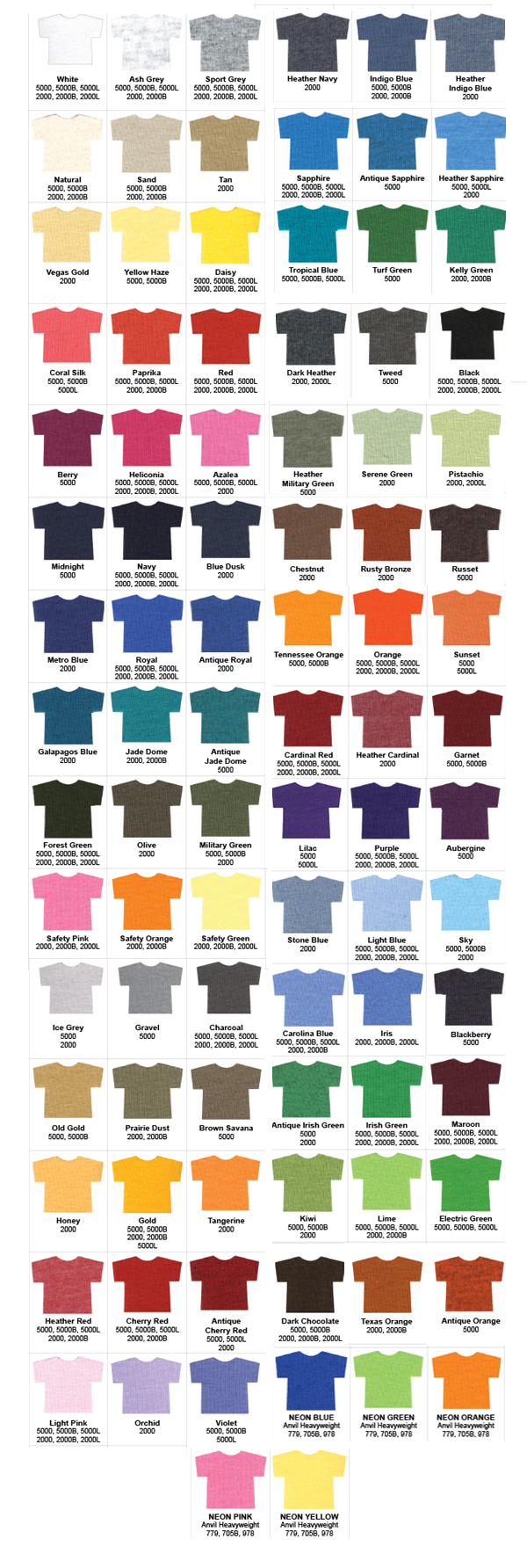 Gildan color chart 5000 smartphone color chart ratelco smartphone color chart nvjuhfo Image collections
