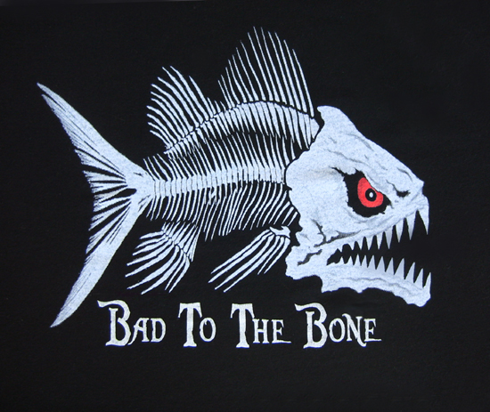glow in the dark Fish Bones T-shirt